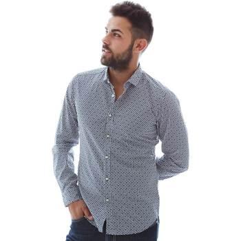 vaatteet Miehet Pitkähihainen paitapusero Gmf 961151/3 Sininen