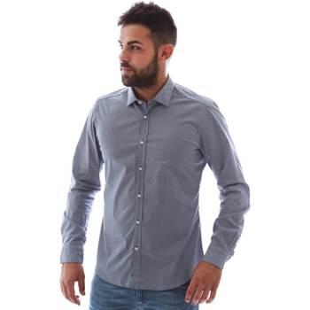 vaatteet Miehet Pitkähihainen paitapusero Gmf 961146/2 Sininen