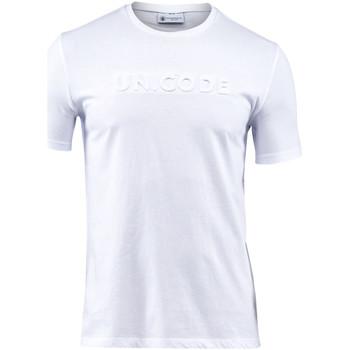 vaatteet Miehet Lyhythihainen t-paita Lumberjack CM60343 001 508 Valkoinen