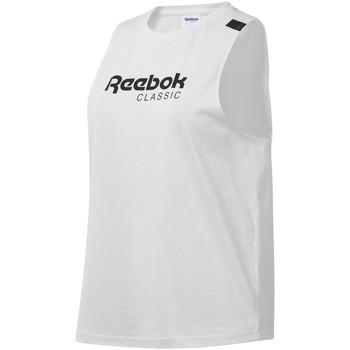 vaatteet Naiset Hihattomat paidat / Hihattomat t-paidat Reebok Sport DT7235 Valkoinen