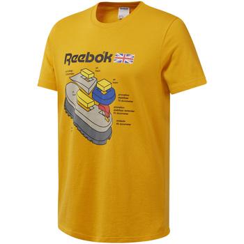 vaatteet Miehet Lyhythihainen t-paita Reebok Sport DT8125 Keltainen
