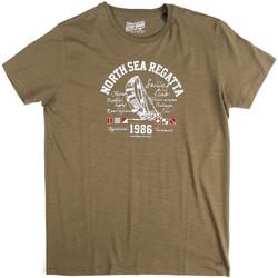 vaatteet Miehet Lyhythihainen t-paita Key Up 2G78S 0001 Vihreä