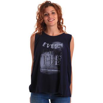 vaatteet Naiset Hihattomat paidat / Hihattomat t-paidat Key Up 5Z14S 0001 Sininen