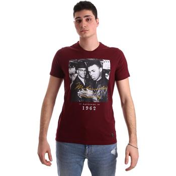 vaatteet Miehet Lyhythihainen t-paita Gaudi 921BU64003 Punainen