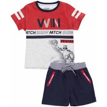 vaatteet Lapset Kokonaisuus Losan 815-8009AC Harmaa