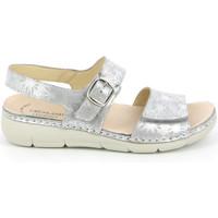 kengät Naiset Sandaalit ja avokkaat Grunland SE0459 Hopea