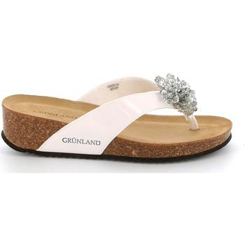 kengät Naiset Varvassandaalit Grunland CB2482 Valkoinen