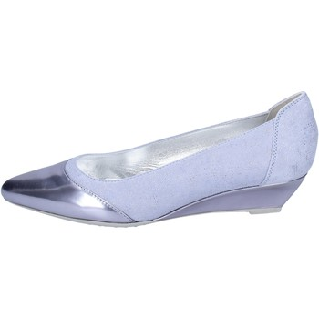kengät Naiset Balleriinat Hogan Ballerine Camoscio Pelle lucida Blu