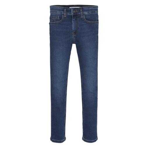 vaatteet Pojat Skinny-farkut Calvin Klein Jeans ESSENTIAL ROYAL BLUE STRETCH Sininen