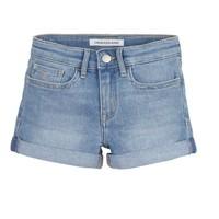 vaatteet Tytöt Shortsit / Bermuda-shortsit Calvin Klein Jeans SLIM SHORT ESS Sininen