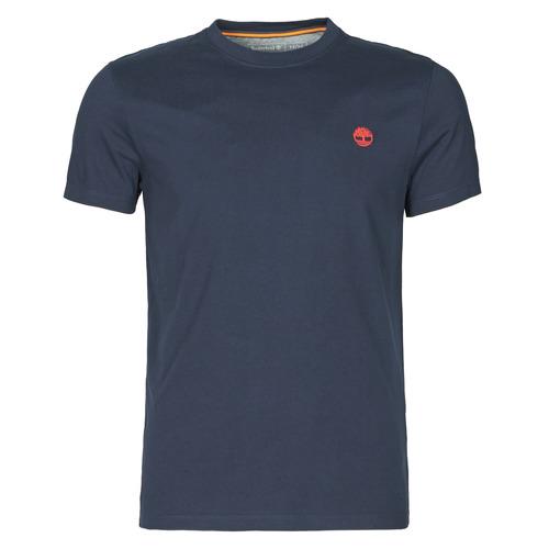 vaatteet Miehet Lyhythihainen t-paita Timberland SS DUNSTAN RIVER POCKET TEE SLIM Laivastonsininen