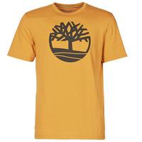 vaatteet Miehet Lyhythihainen t-paita Timberland SS KENNEBEC RIVER BRAND TREE TEE Kamelinruskea
