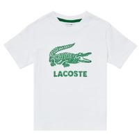 vaatteet Pojat Lyhythihainen t-paita Lacoste TJ1965-001 Valkoinen