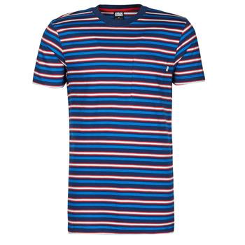 vaatteet Miehet Lyhythihainen t-paita Urban Classics TB4136 Sininen / Punainen / Valkoinen