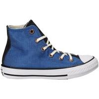 kengät Lapset Korkeavartiset tennarit Converse 659965C Sininen