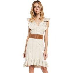 vaatteet Naiset Lyhyt mekko Gaudi 011FD15057 Beige