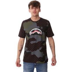 vaatteet Miehet Lyhythihainen t-paita Sprayground SP01820BRO Ruskea