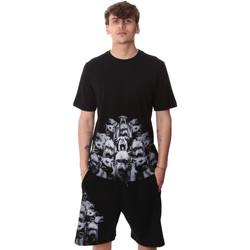 vaatteet Miehet Lyhythihainen t-paita Sprayground 20SP012 Musta