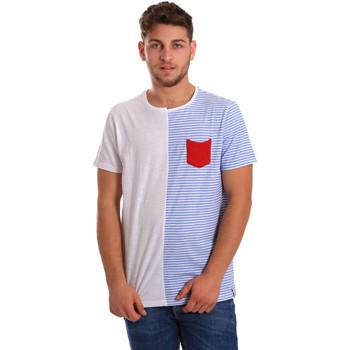 vaatteet Miehet Lyhythihainen t-paita Gaudi 811FU64046 Valkoinen