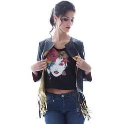 vaatteet Naiset Takit / Bleiserit Grace Shoes DF131 Musta
