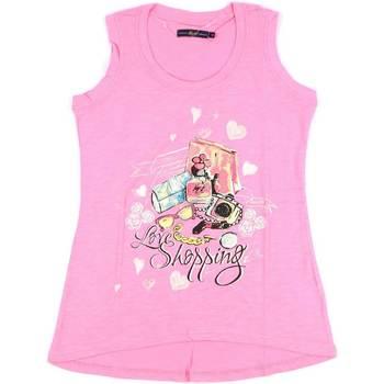 vaatteet Naiset Hihattomat paidat / Hihattomat t-paidat Key Up S88Z 0001 Vaaleanpunainen