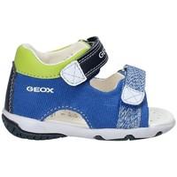 kengät Lapset Sandaalit ja avokkaat Geox B82L8B 01054 Sininen