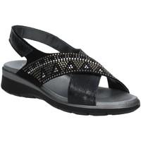 kengät Naiset Sandaalit ja avokkaat Soffice Sogno E9490 Musta