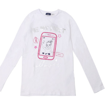 vaatteet Lapset T-paidat pitkillä hihoilla Chicco 09006871000000 Valkoinen