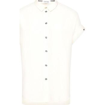 vaatteet Naiset Paitapusero / Kauluspaita Calvin Klein Jeans K20K201950 Beige