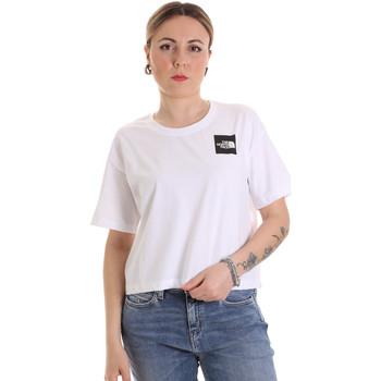 vaatteet Naiset Lyhythihainen t-paita The North Face NF0A4SY9FN41 Valkoinen