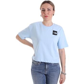 vaatteet Naiset Lyhythihainen t-paita The North Face NF0A4SY9JH51 Sininen