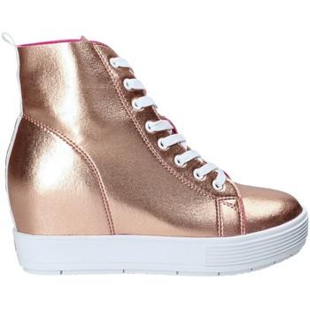 kengät Naiset Korkeavartiset tennarit Fornarina PE17MJ9543I091 Vaaleanpunainen
