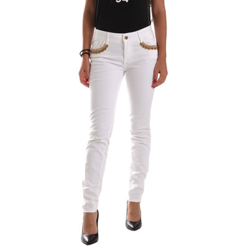 vaatteet Naiset Chino-housut / Porkkanahousut Gaudi 911BD26030 Valkoinen