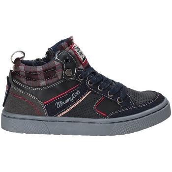 kengät Lapset Korkeavartiset tennarit Wrangler WJ17225 Sininen