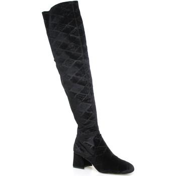 kengät Naiset Ylipolvensaappaat Apepazza SHR06 Musta