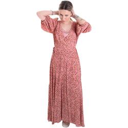 vaatteet Naiset Pitkä mekko Calvin Klein Jeans K20K201954 Vaaleanpunainen