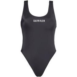 vaatteet Naiset Yksiosainen uimapuku Calvin Klein Jeans KW0KW00980 Musta