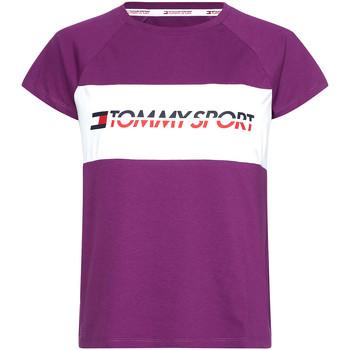 vaatteet Naiset Lyhythihainen t-paita Tommy Hilfiger S10S100331 Violetti