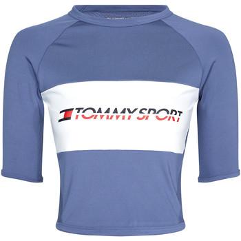 vaatteet Naiset Lyhythihainen t-paita Tommy Hilfiger S10S100397 Sininen