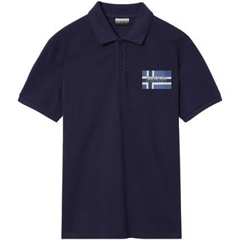 vaatteet Miehet Lyhythihainen poolopaita Napapijri NP0A4E2K Sininen