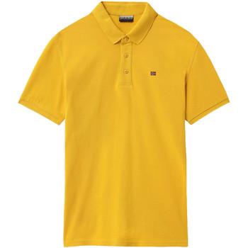 vaatteet Miehet Lyhythihainen poolopaita Napapijri NP0A4E2M Keltainen