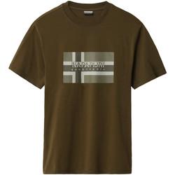 vaatteet Miehet Lyhythihainen t-paita Napapijri NP0A4E38 Vihreä