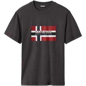 vaatteet Miehet Lyhythihainen t-paita Napapijri NP0A4E38 Harmaa