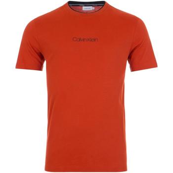 vaatteet Miehet Lyhythihainen t-paita Calvin Klein Jeans K10K104934 Punainen