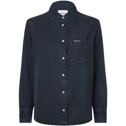 vaatteet Naiset Paitapusero / Kauluspaita Calvin Klein Jeans J20J212778 Sininen