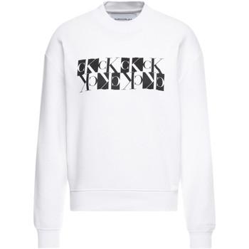 vaatteet Naiset Svetari Calvin Klein Jeans J20J212984 Valkoinen