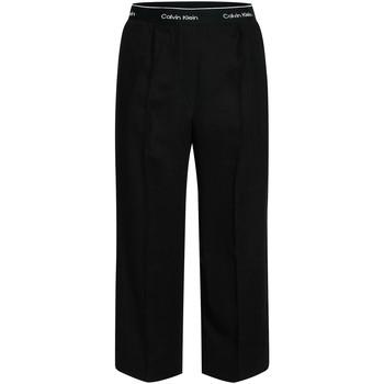 vaatteet Naiset Väljät housut / Haaremihousut Calvin Klein Jeans K20K201766 Musta