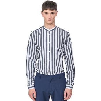 vaatteet Miehet Pitkähihainen paitapusero Antony Morato MMSL00604 FA420096 Sininen
