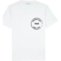 vaatteet Miehet Lyhythihainen t-paita Calvin Klein Jeans K10K104509 Valkoinen