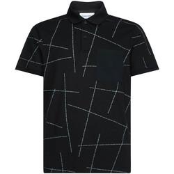 vaatteet Miehet Lyhythihainen poolopaita Calvin Klein Jeans K10K105189 Musta